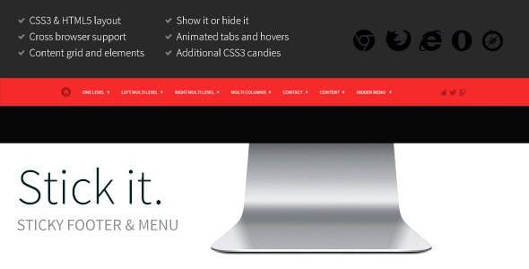Stick it. HTML5 & CSS3 Sticky Footer & Menu