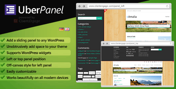 UberPanel - Sliding Panel Plugin for WordPress