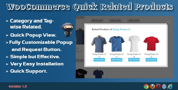 WooCommerce Quick Related Products - CodeCanyon Item for Sale
