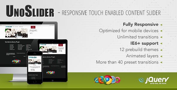 UnoSlider - Responsive Touch Enabled Slider        Nulled