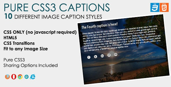 Pure CSS3 Captions - CodeCanyon Item for Sale