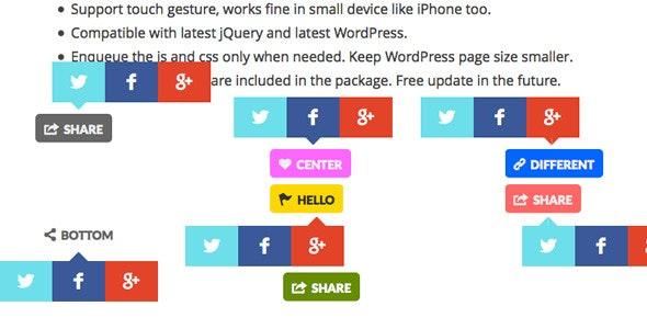 Share Button WordPress Plugin - CodeCanyon Item for Sale