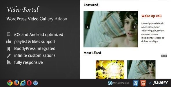 Video Portal - WordPress Video Gallery AddOn - CodeCanyon Item for Sale