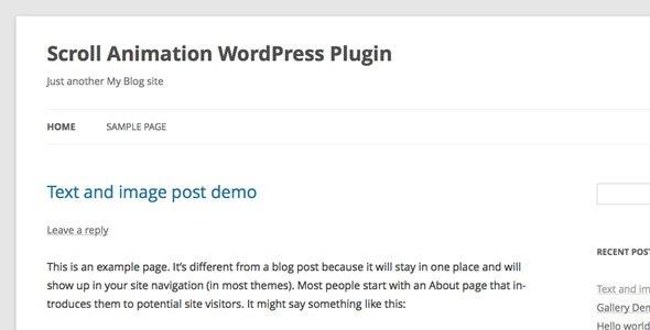 Scroll Animation WordPress Plugin - CodeCanyon Item for Sale