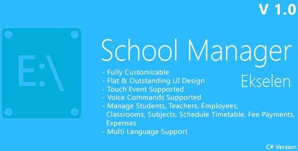 Ekselen - School Management System - CS Version - CodeCanyon Item for Sale