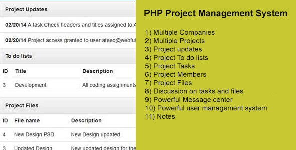 PHP Project Management System - CodeCanyon Item for Sale