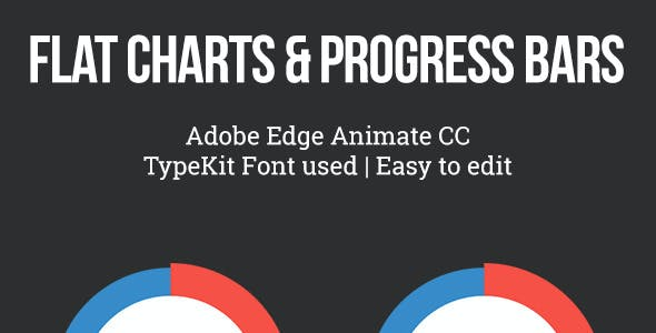 Flat Pie Charts and Progress Bars Templates