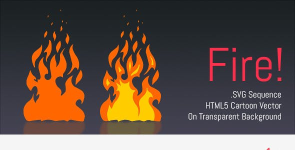 Cartoon Vector Fire - HTML5 Edge Banner Animation