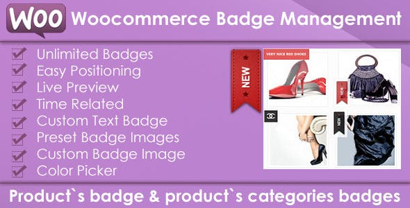 Woocommerce Products Badge Management