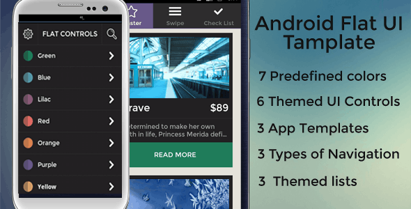 Android Flat UI Template