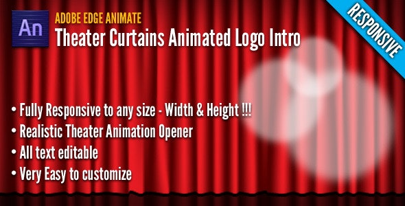 Theater Curtains Animated Logo Intro - CodeCanyon Item for Sale