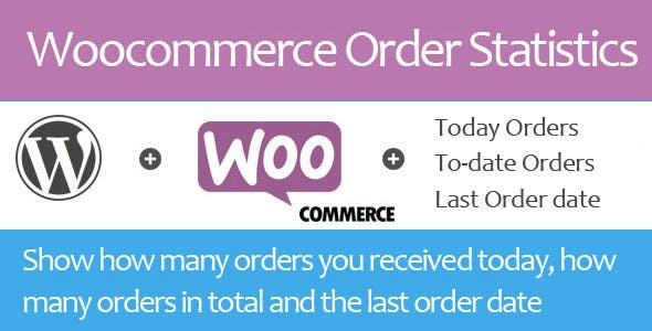 Woocommerce Today Orders and To-date orders