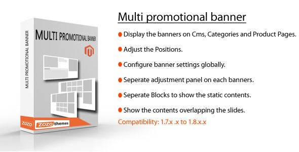 Magento slider for CMS, widgets and Product Pages