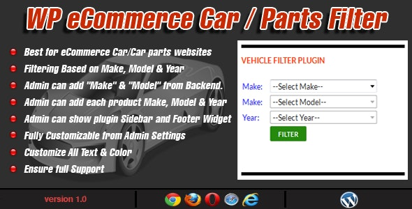 WP e-Commerce Car/Parts Filter Plugin - CodeCanyon Item for Sale