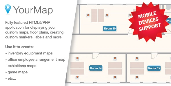 YourMap - customizable maps with back-end panel - CodeCanyon Item for Sale