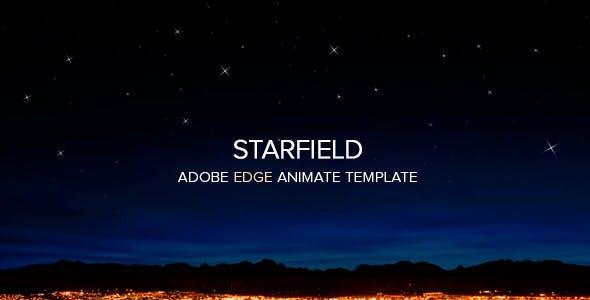 Responsive Edge Animate Starfield Template