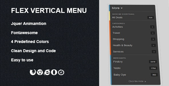 Flex Vertical Menu - CodeCanyon Item for Sale
