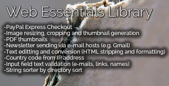 Web Essentials Library