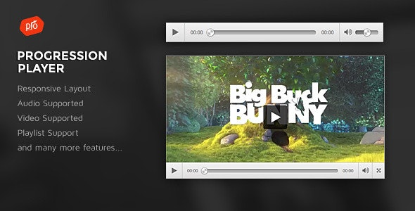 ProgressionPlayer - Responsive Audio/Video Player - CodeCanyon Item for Sale