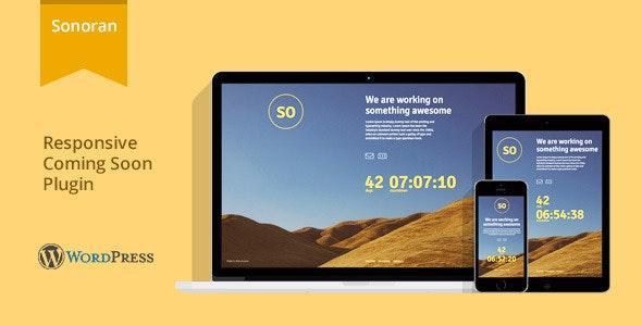 Sonoran - Responsive WordPress Coming Soon Plugin - CodeCanyon Item for Sale