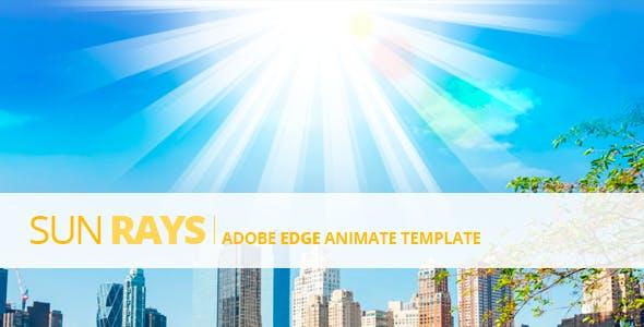 Edge Animate Sun Rays Template