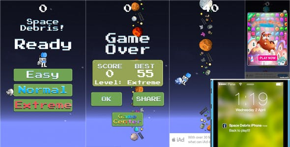 Flappy Game: iAd, Interstitial, GameCenter, Push