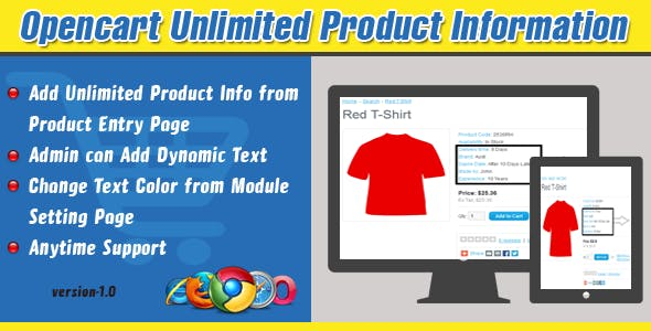 Opencart Unlimited Product Information