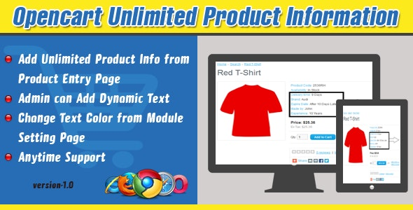 Opencart Unlimited Product Information - CodeCanyon Item for Sale