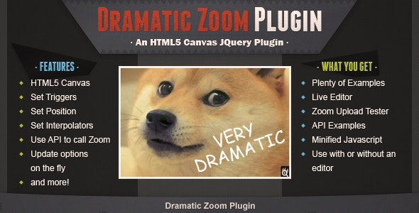 Dramatic Zoom Plugin - CodeCanyon Item for Sale