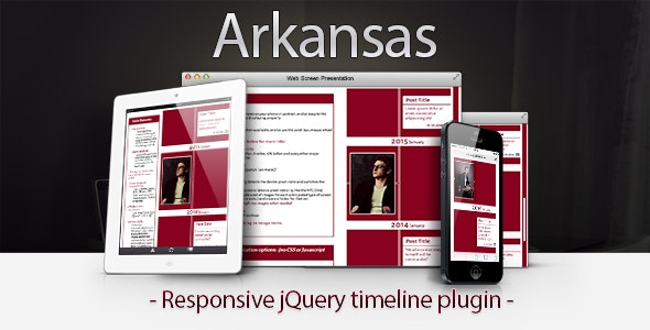 Arkansas Responsive jQuery Timeline - CodeCanyon Item for Sale