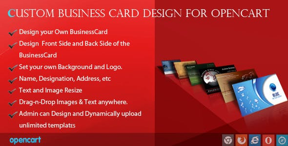 Custom Business Card Design for OpenCart