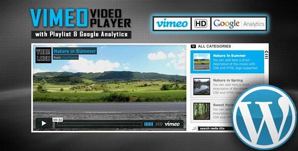 Vimeo Video Player Wordpress Plugin with Playlist - CodeCanyon Item for Sale
