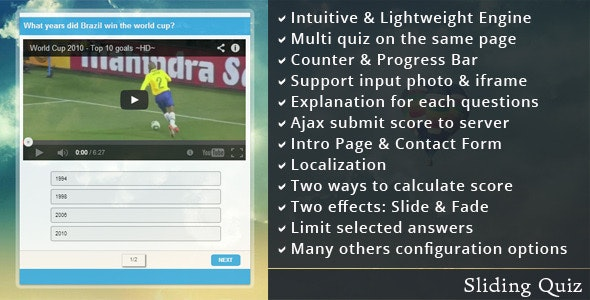 Sliding Quiz - CodeCanyon Item for Sale