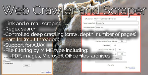 Web Crawler and Scraper for Files and Links