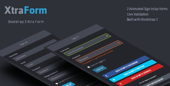 XtraForm - Bootstrap 3 Xtra Animated Form