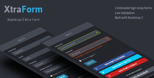 XtraForm - Bootstrap 3 Xtra Animated Form - CodeCanyon Item for Sale