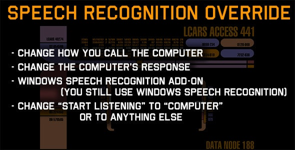 Windows Speech Recognition Override Add-on - CodeCanyon Item for Sale