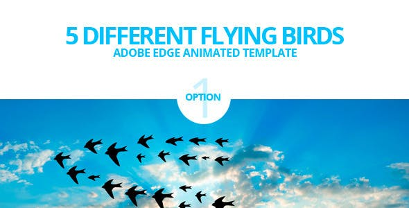 Edge Animate Flying Birds Template
