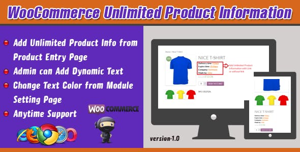 WooCommerce Unlimited Product Information