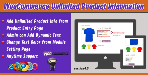 WooCommerce Unlimited Product Information - CodeCanyon Item for Sale