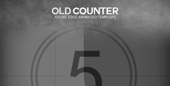 Edge Animate Old Film Counter Template