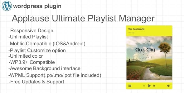 Applause Ultimate Playlist Manager WP Plugin