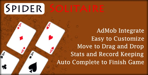 Spider Solitaire -Game - CodeCanyon Item for Sale