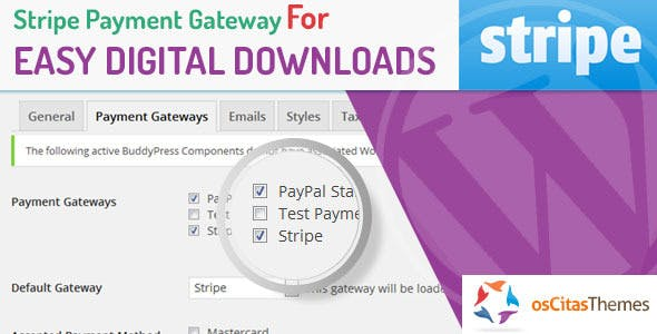 Stripe Payment Gateway For Easy Digital Downloads