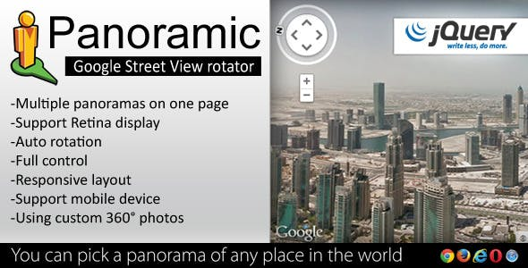 Panoramic - Street View Rotator jQuery Plugin