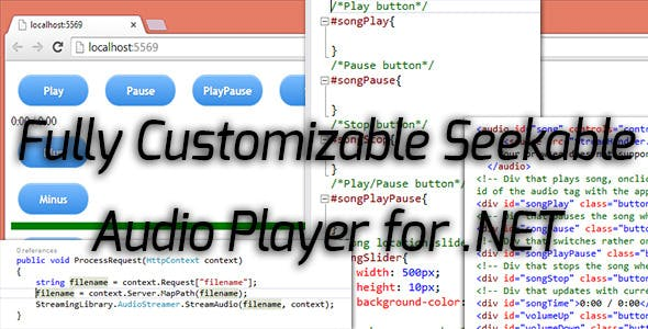 Seeakable Streamable .NET Audio Player for HTML5