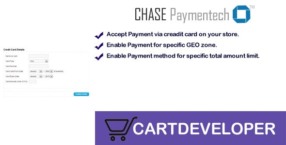 Chase Paymentech Orbital Payment gateway Opencart - CodeCanyon Item for Sale
