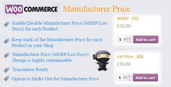 WooCommerce Manufacturer Price
