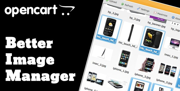 OpenCart Better Image Manager - CodeCanyon Item for Sale