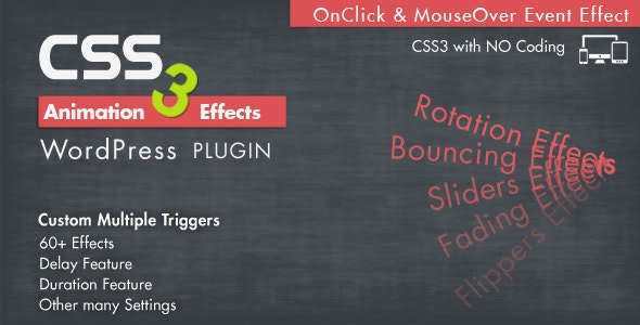 Animation CSS3 Effects Wordpress Plugin - CodeCanyon Item for Sale